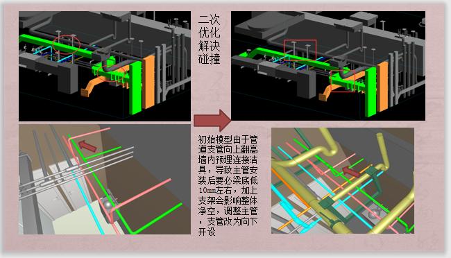 酒店标准层BIM机电安装优化(含模型图纸)-二次优化解决碰撞