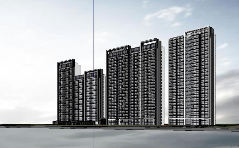 温州知名企业现代江景豪宅建筑模型设计 (4)