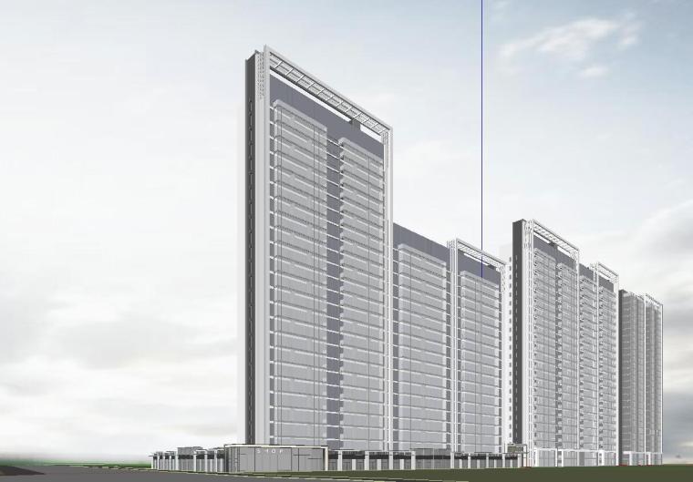 温州知名企业现代江景豪宅建筑模型设计 (3)