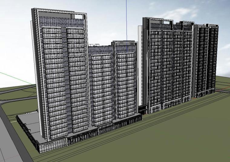 温州知名企业现代江景豪宅建筑模型设计 (2)