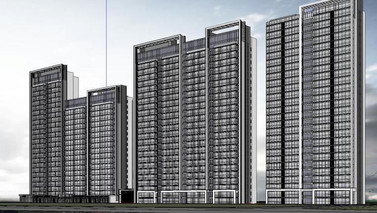 温州知名企业现代江景豪宅建筑模型设计 (5)