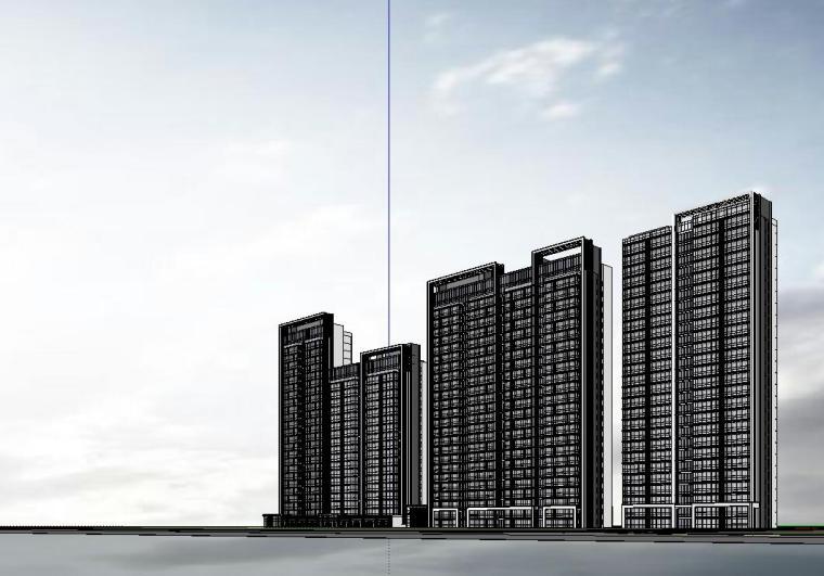 温州知名企业现代江景豪宅建筑模型设计 (7)