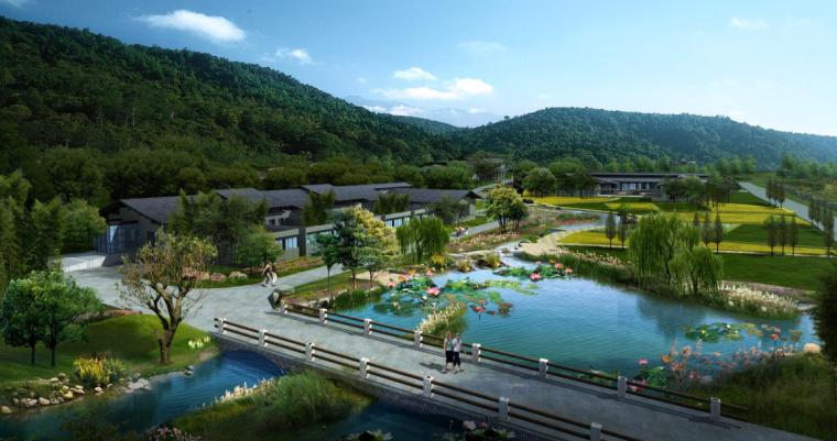 [四川]芦山县乡村灾后重建自然生态景观规划-铜鼓安置点 入口效果图