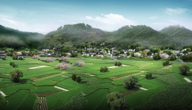 [四川]芦山县乡村灾后重建自然生态景观规划-铜鼓安置点效果图