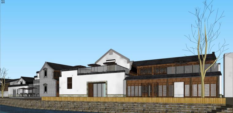 [浙江]宁波中式风格别墅建筑模型设计-宁波中式风格别墅建筑模型设计 (1)