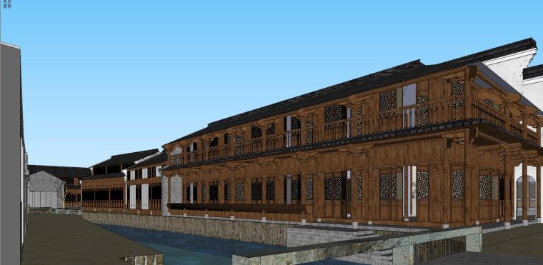 [浙江]宁波中式风格别墅建筑模型设计-宁波中式风格别墅建筑模型设计 (3)