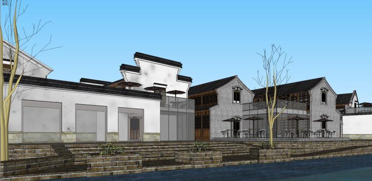 [浙江]宁波中式风格别墅建筑模型设计-宁波中式风格别墅建筑模型设计 (2)