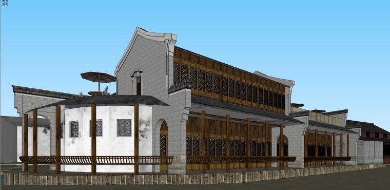 [浙江]宁波中式风格别墅建筑模型设计-宁波中式风格别墅建筑模型设计 (7)