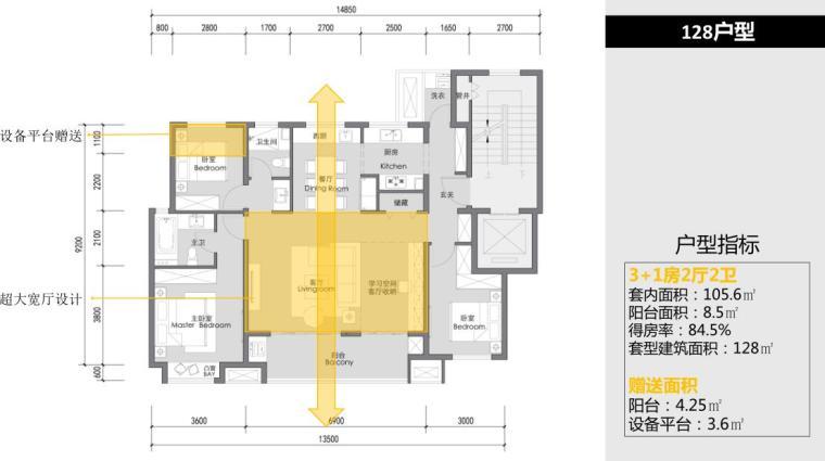 [安徽]现代高层+洋房+社区配套景观方案-128户型