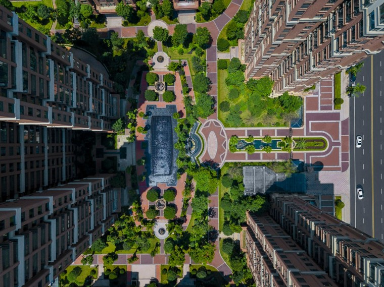 成都格林城居住区景观实景图