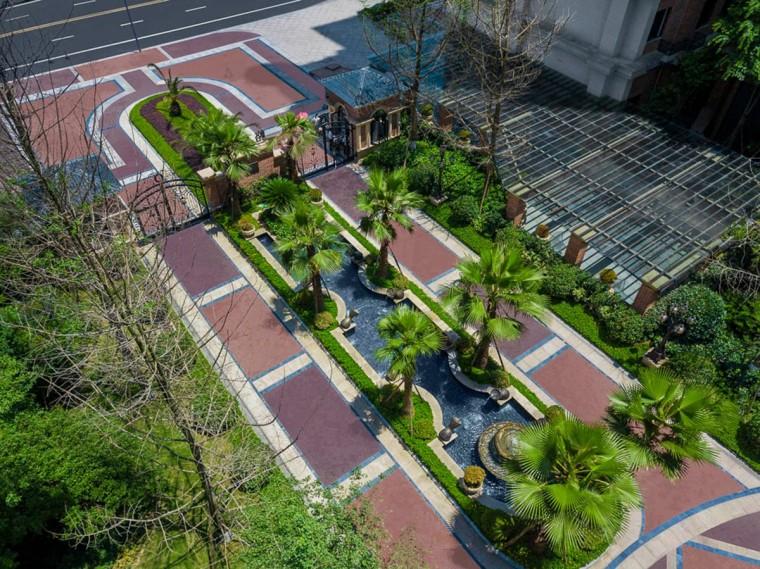 成都格林城居住区景观实景图3