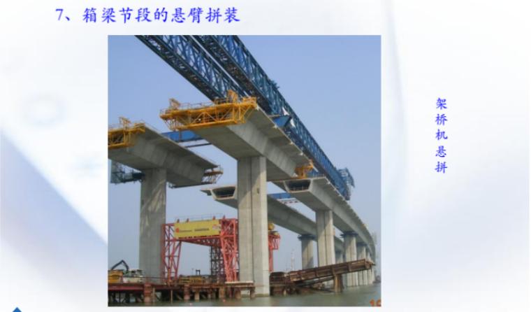 预应力混凝土连续梁施工技术2018-箱梁节段的悬臂拼装