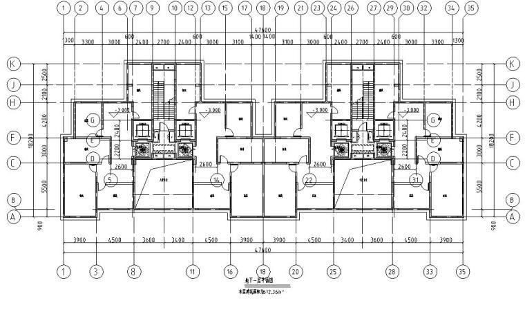 上房徐汇住宅小区1梯2户住宅户型图设计 (4)