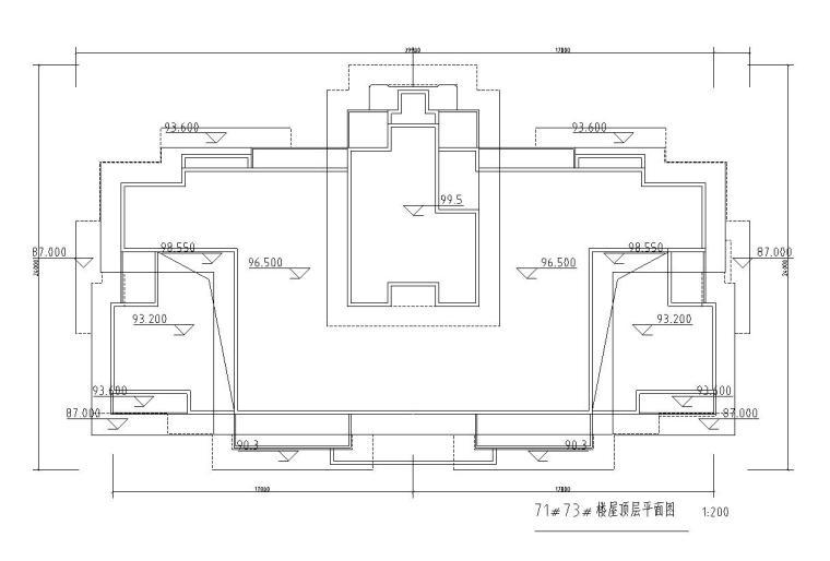 高层1梯2户住宅户型图设计 (1)