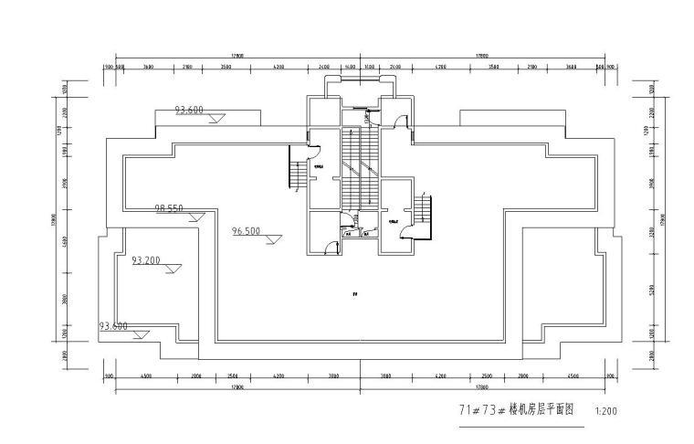 高层1梯2户住宅户型图设计 (2)