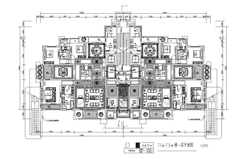 高层1梯2户住宅户型图设计 (6)