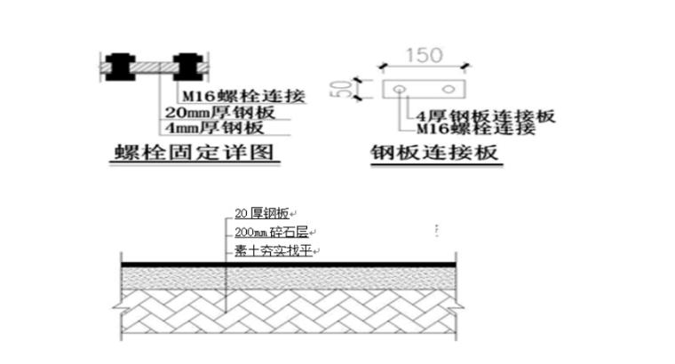 35层框剪结构综合商业楼施工组织设计-03 钢板路面做法