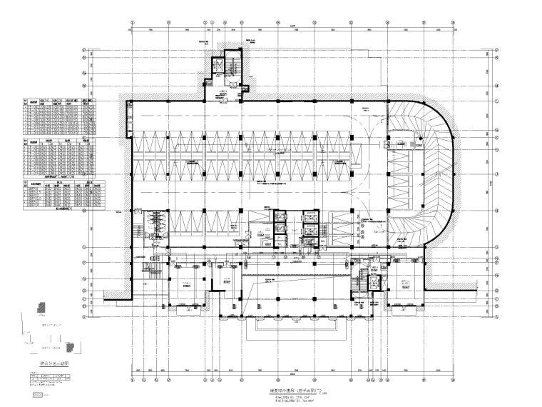 高层医院暖通施工图含计算书大样图2019-康复综合楼吊三层平面图(二)