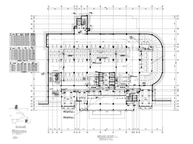 高层医院暖通施工图含计算书大样图2019-康复综合楼吊三层平面图