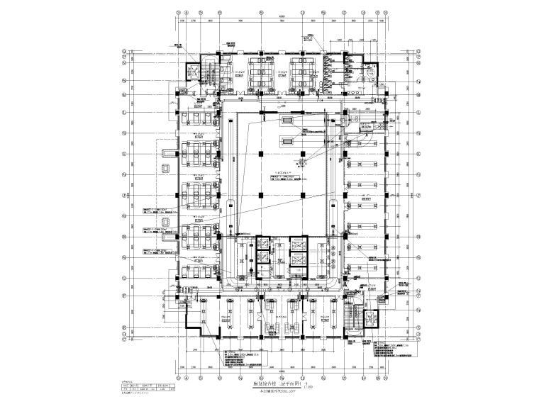 高层医院暖通施工图含计算书大样图2019-康复综合楼二层平面图(一)