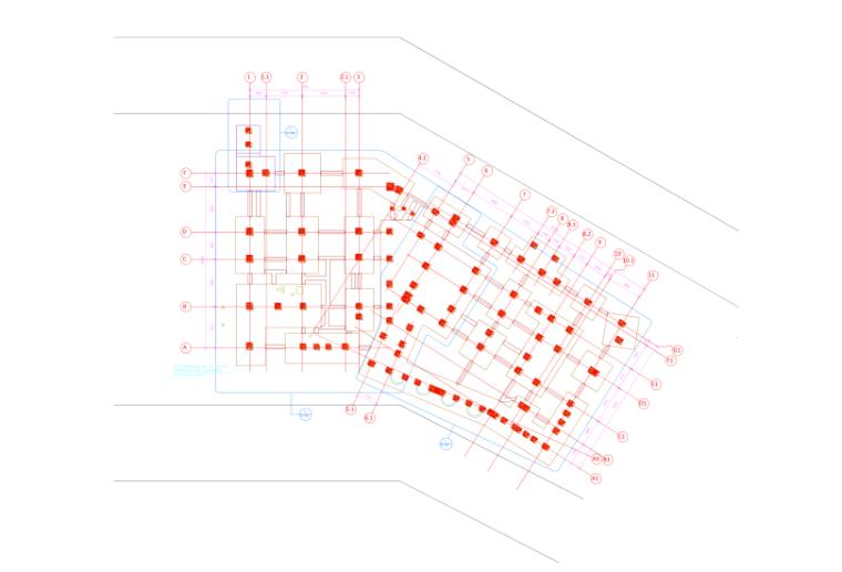 多层钢框架结构主题乐园钢结构施工组织设计-07 吊装作业路线图
