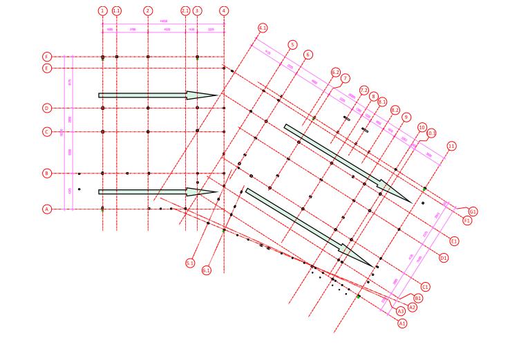 多层钢框架结构主题乐园钢结构施工组织设计-06 钢结构安装方向