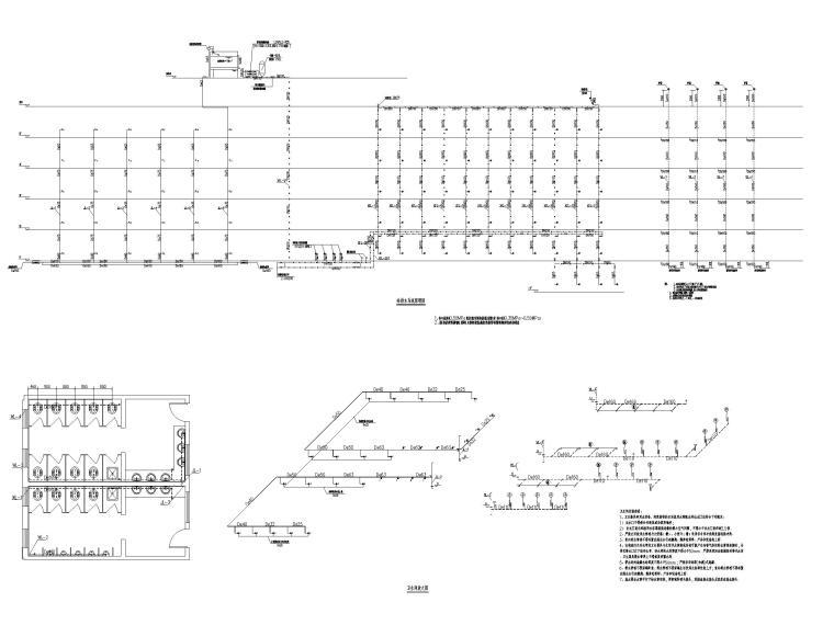 贵州职教中心给排水施工图含招标文件-给排水系统原理图