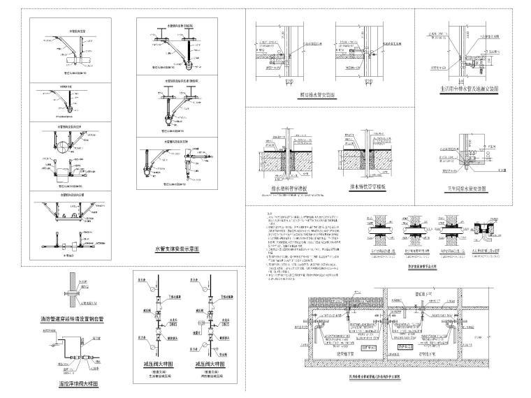 贵州职教中心给排水施工图含招标文件-通用大样图(二)