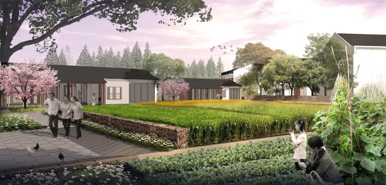 [湖北]武汉蔡甸美丽乡村概念规划设计方案-房屋景观改造效果图2