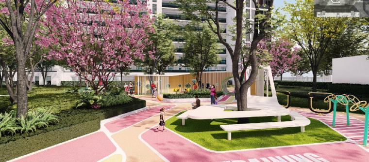[浙江]桐乡现代简洁居住区景观设计方案-儿童+老年活动中心效果图2