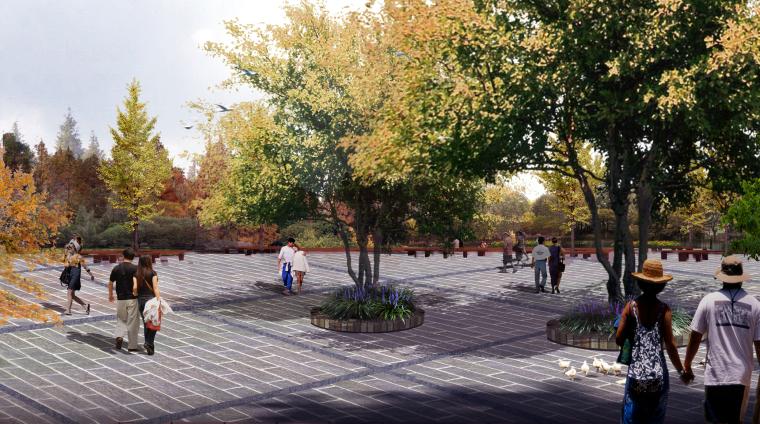 [湖北]武汉蔡甸美丽乡村概念规划设计方案-酸·山楂树广场效果图