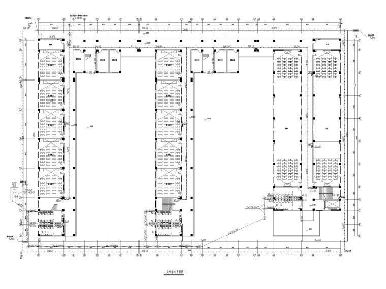 贵州职教中心给排水施工图含招标文件-一层给排水平面图