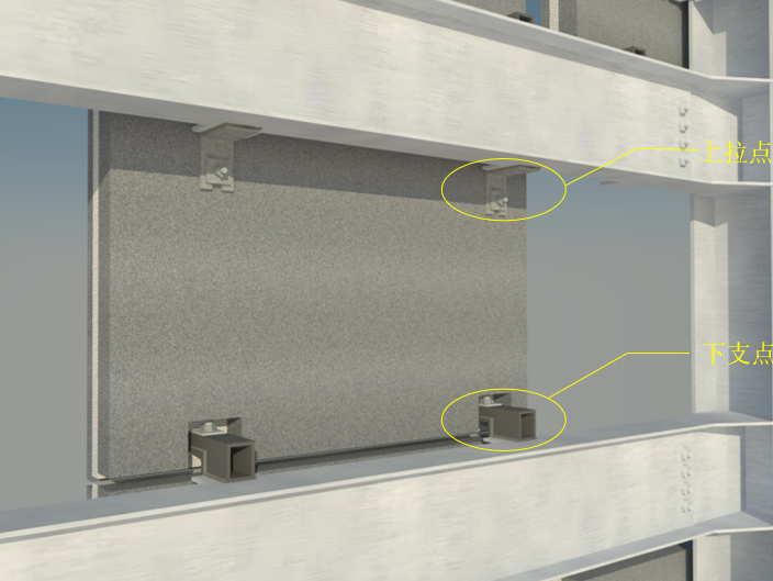 外墙挂板安装BIM技术交底(含模型汇报)-局部外墙挂板安装效果图