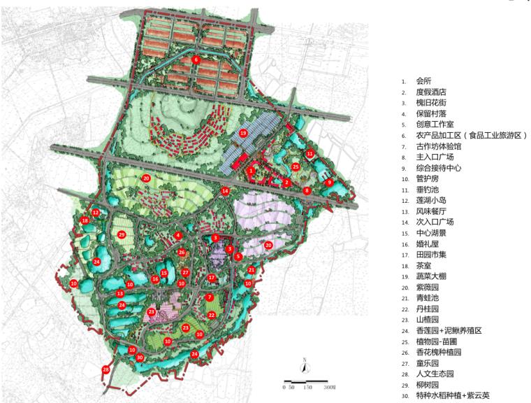 [湖北]武汉蔡甸美丽乡村概念规划设计方案-总平面图