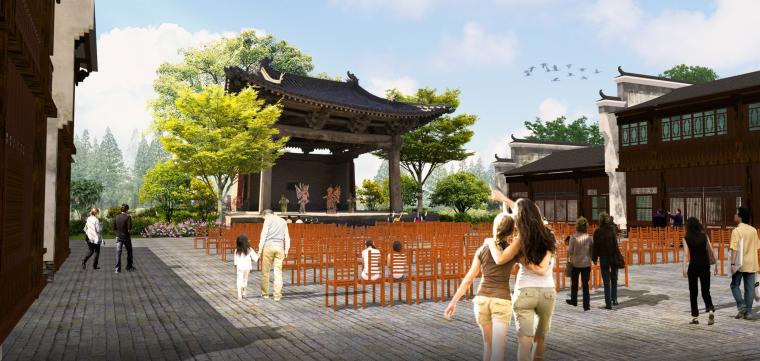 [湖北]武汉蔡甸美丽乡村概念规划设计方案-甜·槐旧花街效果图2