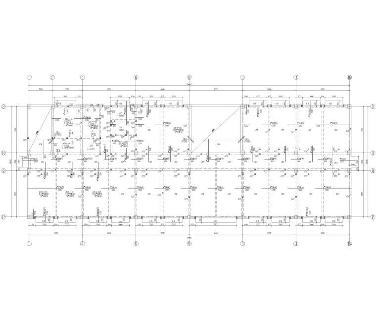 [河北]局部6层框架结构教学楼全套图纸2018-板施工图