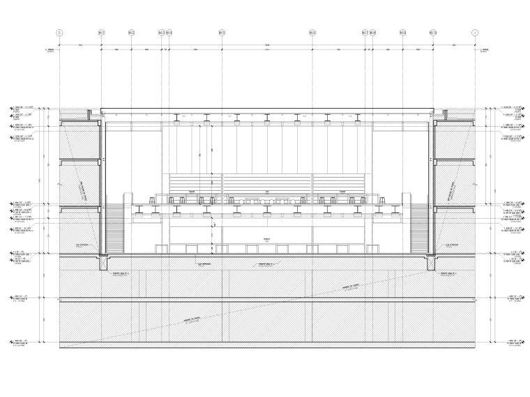 [杭州]西湖苹果直营店改造及装修工程施工图-横剖面图