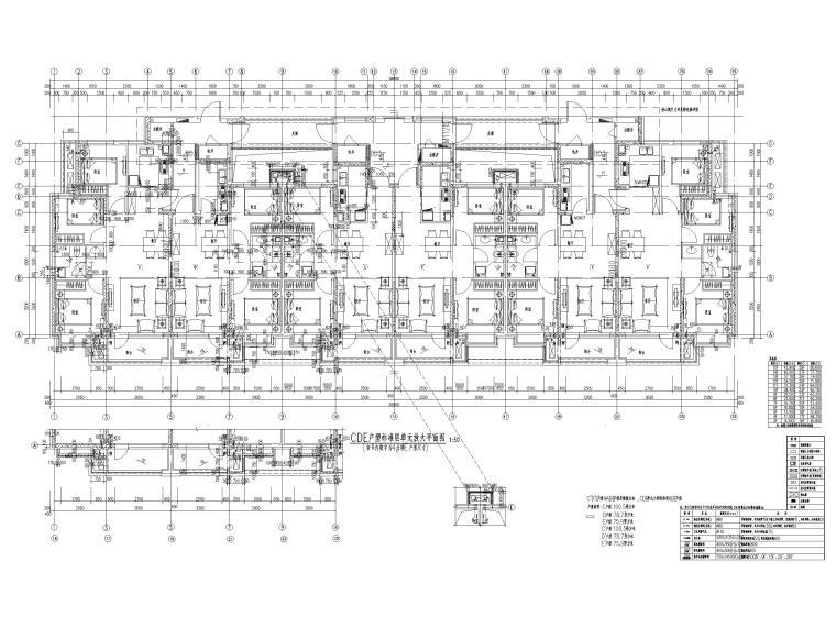 大连科技小镇启动区住宅建筑施工图纸2018-户型标准层单元放大平面图