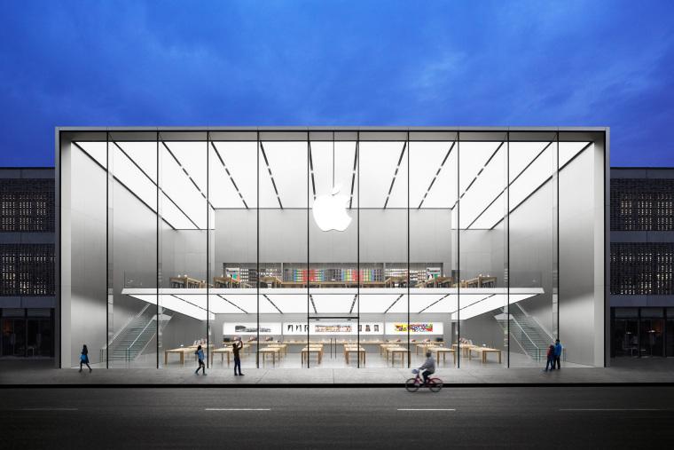 [杭州]西湖苹果直营店改造及装修工程施工图-West Lake Apple Store-01