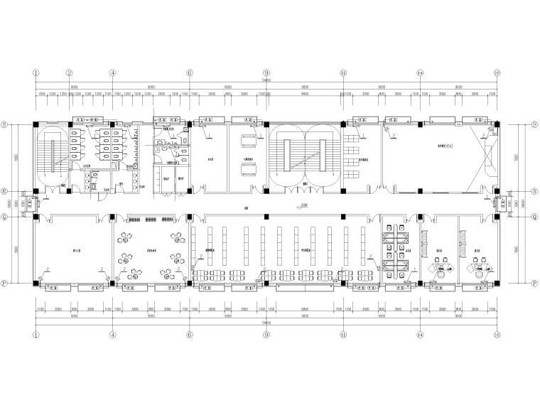 [河北]局部6层框架结构教学楼全套图纸2018-空调平面图