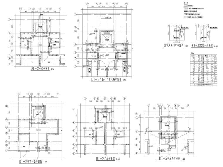 大连科技小镇启动区住宅建筑施工图纸2018-楼电梯详图