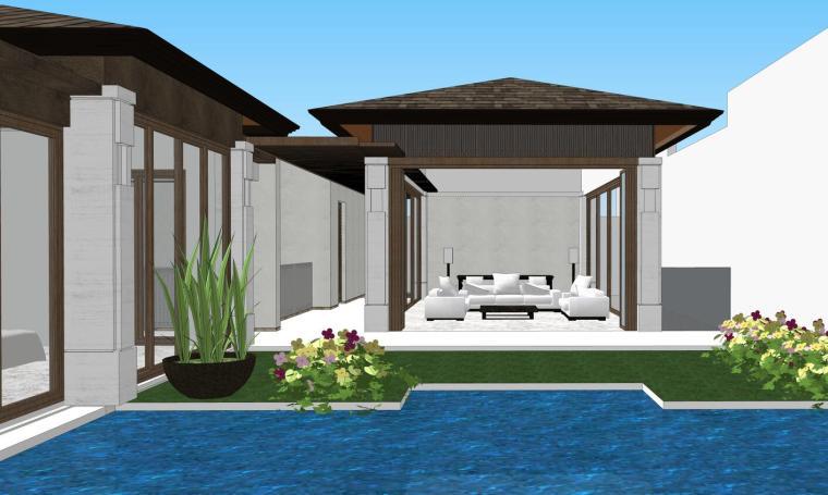 现代三亚凯华海棠湾海棠之星住宅SU模型 (1)