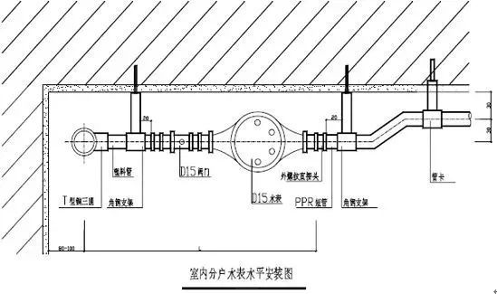 室内给水_排水管道节点图做法大全_22