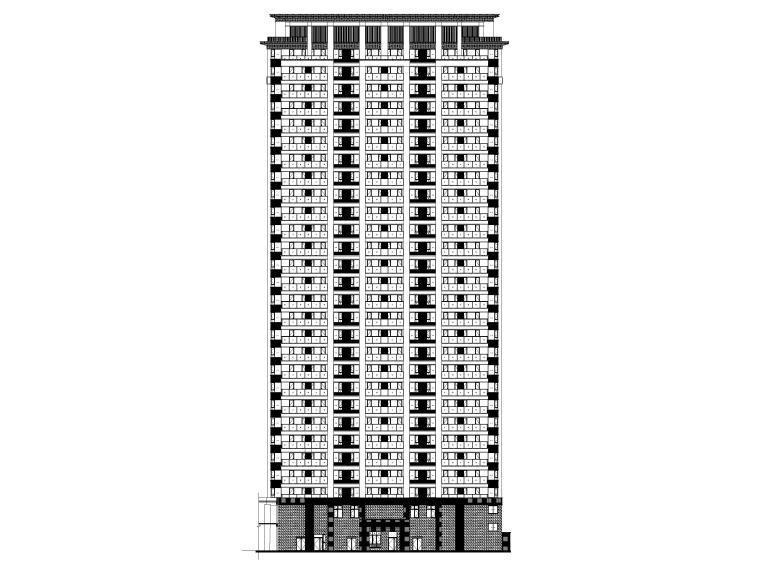 大连科技小镇启动区住宅建筑施工图纸2018-1#楼立面图1
