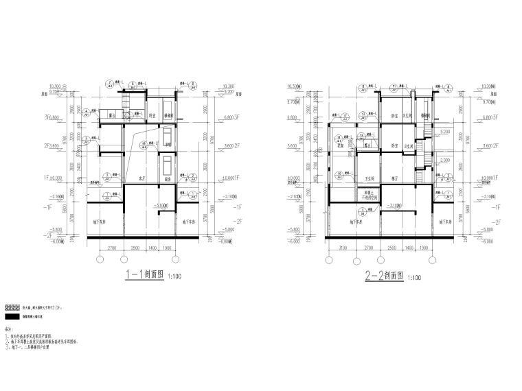 大连科技小镇启动区住宅建筑施工图纸2018-竖联排建筑剖面图
