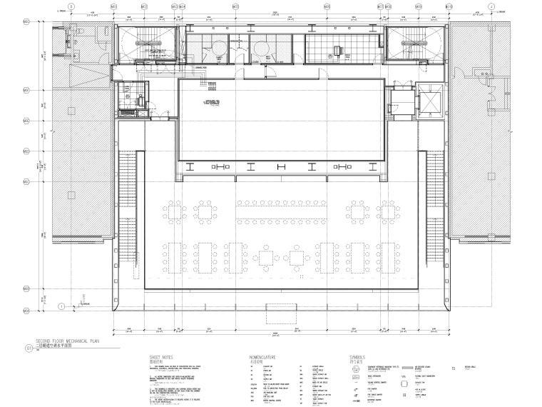 [杭州]西湖苹果直营店改造及装修工程施工图-二层暖通空调水管平面图