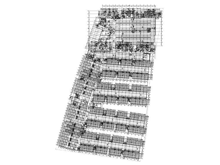 大连科技小镇启动区住宅建筑施工图纸2018-地库地下一层平面图