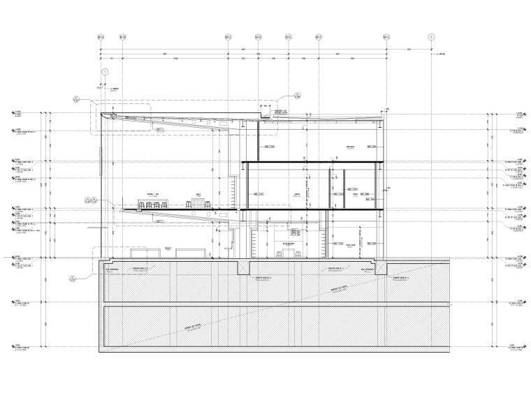 [杭州]西湖苹果直营店改造及装修工程施工图-纵剖面图