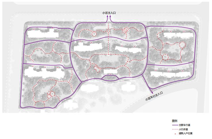 [山东]东营地中海风情社区花园景观方案-道路交通分析