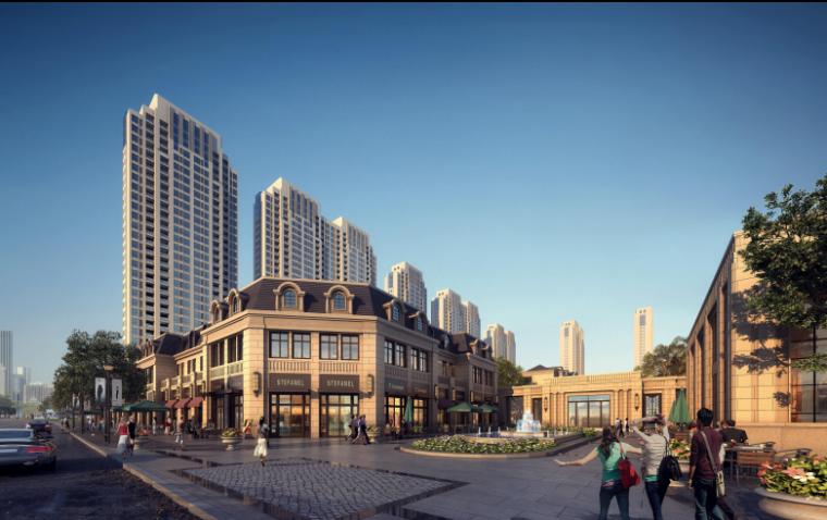 [河北]涿州码头高密度品质住宅景观项目-效果图1